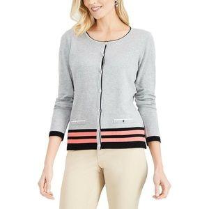 Karen Scott S Smoke Grey Sweater  9BI34